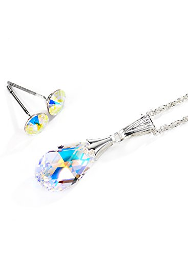 Neoglory MADE WITH SWAROVSKI ELEMENTS AB Crystal Necklaces Earrings Jewelry (Ab Jewelry)