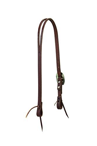 Ropes Headstall - Weaver Leather Working Tack Slim Slit Ear Headstall, Rope Edge Hardware