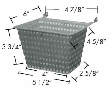 B202 Jacuzzi Skimmer Basket B-202 OEM # 43-0676-02 by ALADDIN EQUIPMENT CO - Jacuzzi Skimmer Basket