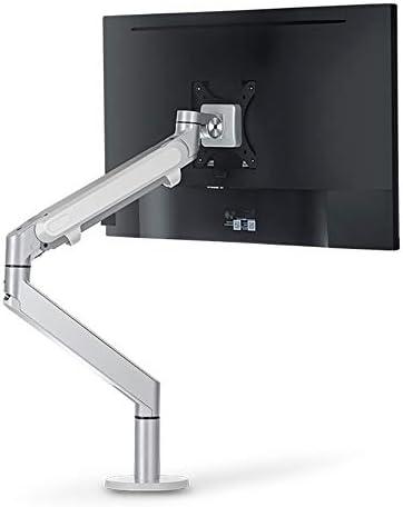 モニタースタンド コンピュータのLCDモニターは、Officeスタンドガススプリングクリップデスクトップリフティングコンピュータスタンド キーボード収納用デスクスタンドマルチメディアラップトッププリンターテレビ画面 (色 : Silver, Size : One size)