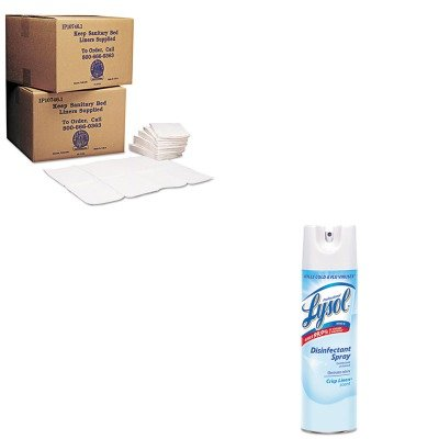 KITKKPKB15099RAC74828CT - Value Kit - Sanitary Bed Liners for Baby Changing Stations (KKPKB15099) and Professional LYSOL Brand Disinfectant Spray (RAC74828CT)