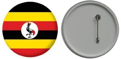 Button / badge drapeau Ouganda - 58mm LetsCollect-it