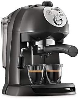 Delonghi EC201.CD.B - Cafetera de bomba tradicional (15 bar de presión, 2 tazas, café molido o filtros monodosis) negro: Amazon.es: Hogar