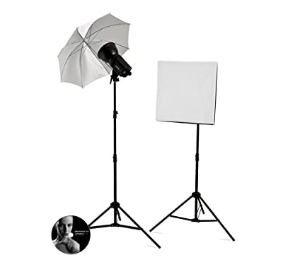 Westcott 242 Strobelite 2-Light Softbox/Umbrella Kit (Black) by Westcott