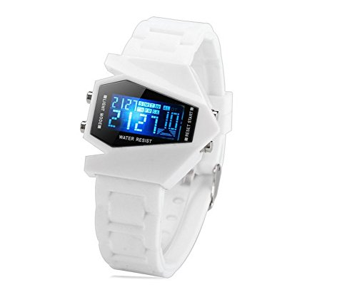 Watches for Kids Girls 5atm Movement White Jelly Sport Watches for Kids Boys Digital