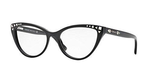 Versace VE3191 Eyeglasses-GB1 - Cat Eye Versace Glasses