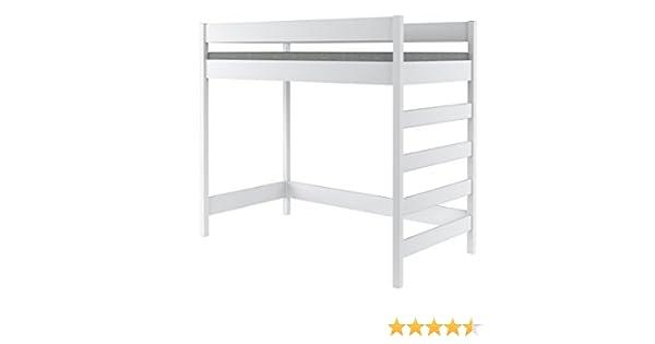 Hubi Loft Bunk Bed Cama alta, madera, Blanco, 200x90x160: Amazon.es: Hogar