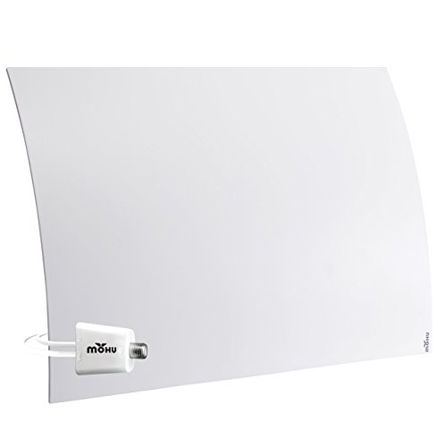 Mohu Curve 50 TV Antenna Indoor Amplified 60 Mile Range Modern Design 4K-Ready HDTV Premium Materials for Performance (MH-110959) (Hd Ready Digital Tv)