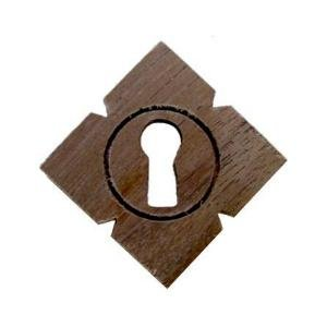 WK-20 WALNUT VICTORIAN KEYHOLE COVER ANTIQUE REPRODUCTION + FREE BONUS (SKELETON KEY BADGE) (Walnut Victorian Cabinet)