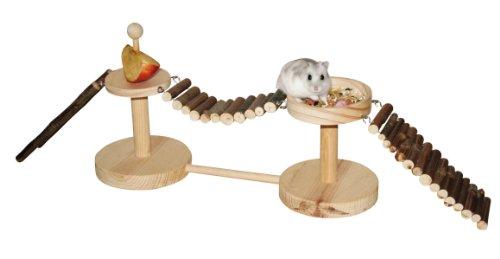 Kerbl 82883 Spiel- und Fressplatz Nature für Hamster 60 x 12 x 20 cm