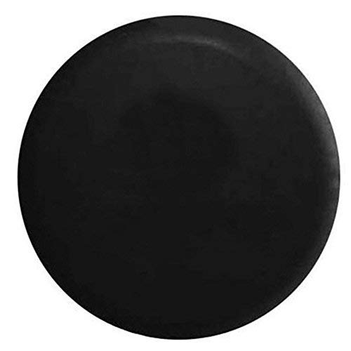 (BCP Black Color PU Leather Spare Tire Cover (Fit 23-27 inches))