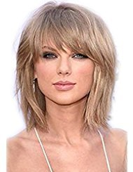 Pengma Top Quality Natural Layered Blonde Bob Hair Bob Cut Wigs with Bangs