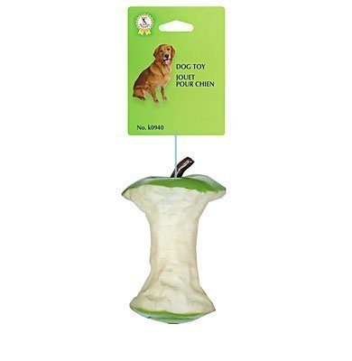Pet Shoppe Squeaky Dog Toy Apple Core