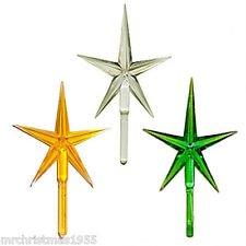 Ceramic Christmas Tree Medium Gold Clear Green Star