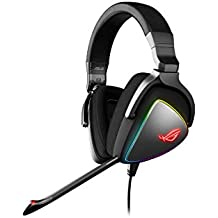 Asus ROG Delta USB-C Gaming Headset for PC, Mac, Playstation 4, Teamspeak, and Discord with Hi-Res ESS Quad-DAC, Digital Microphone, and Aura Sync RGB Lighting (Renewed)