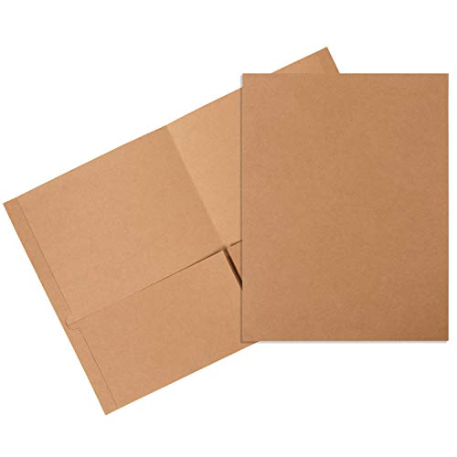Juvale Bulk 12-Pack Kraft Brown Letter Size Twin Pocket Folders for School & Office, 12 x 9.25 Inches