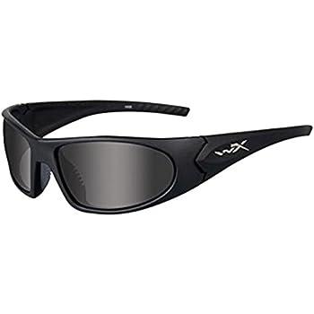 141ee391110a Amazon.com  Wiley X Valor Sunglasses (Smoke Grey Lens