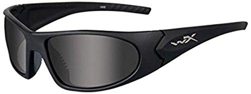 Wiley X Talon Sunglasses Matte Black Frame Clear/Rust/Grey L