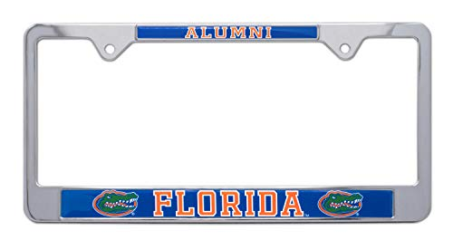 University Of Florida License Plate Frames - All Metal NCAA Gators Alumni License Plate Frame (Florida)