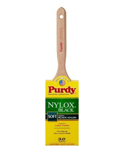 (Purdy 144316130 Nylox Black Series Nylo-Peacock Flat Trim Paint Brush, 3)