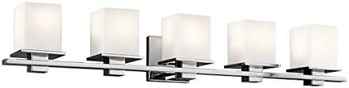 Kichler 45193CH Tully 5-Light Bath Vanity in Chrome (Fixture Light Chrome Bath Five)