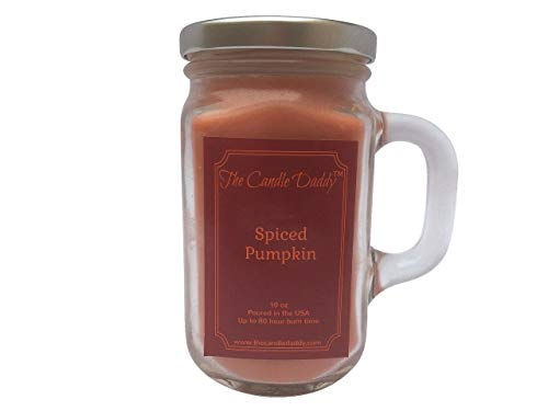 - Pumpkin Spice Candle - Spiced Pumpkin Scented Candle - 10 oz - 80 Hour Burn jar Candle - The for him or her.