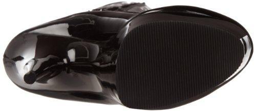Patent 3050 Women's Pleaser Black Delight Boot Black wXvAv