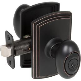 Delaney Designer Series Canova Design Oil Rubbed Bronze Entry Door Lever Kwikset Keyway (We Key Lock Orders Alike for Free) ()