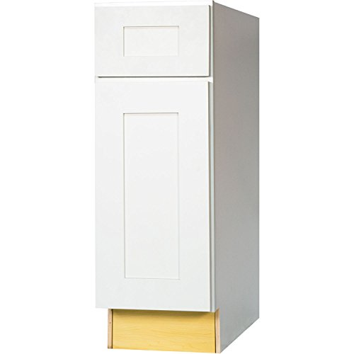 Everyday Cabinets 21 Inch Base Cabinet in Bright White Shaker with 1 Soft Close Drawer & 1 Soft Close Door & 1 Shelf 21″ RTA