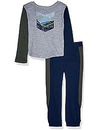Splendid Boys Long Sleeve Pant Set, Light Gray Heather - Toddler, 3T