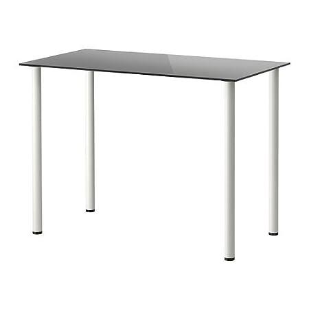 IKEA GLASHOLM / Aðils - Mesa, vidrio negro, blanco - 99x52 cm ...