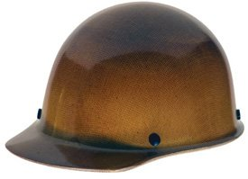 MSA 475395 Skullgard Cap Hard Hat, with 4-point Fas-Trac III Suspension, Standard, Natural Tan