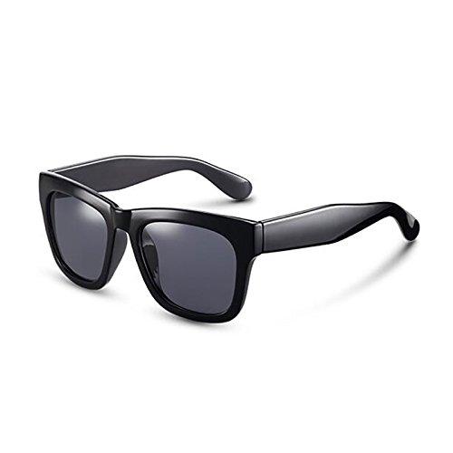 aire de sol conducción libre Gafas UV400 de Gafas casuales de sol Opcio sol mujer Vintage UV de excursionista Gafas polarizadas Personalidad de nuevas Protección al Regalo Gafas de Gray Frame Black sol para Protección 7P6Rqwp6