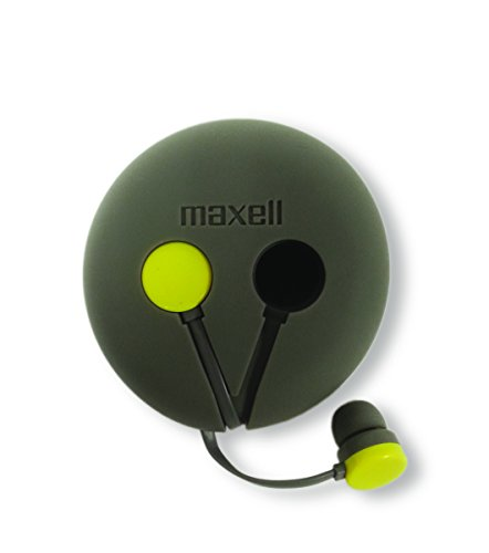 Maxell 190605 rap'd Bud & Storage with Mic, Yellow/Gray