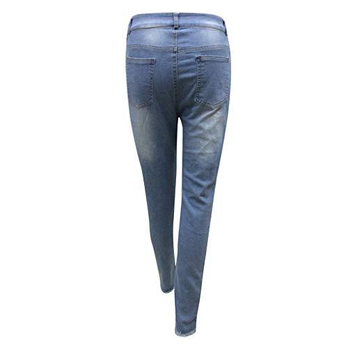En Pour Lacets Élastique Jeans À Femmes Pantalon Holywin Décontracté Jean EqTE0w