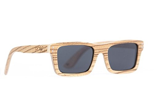 Proof Eyewear Unisex Hayburn Mahogany Handcrafted Water Resistant Wooden Sunglasses,  Zebra,  52 - Sunglasses Mahogany Womens