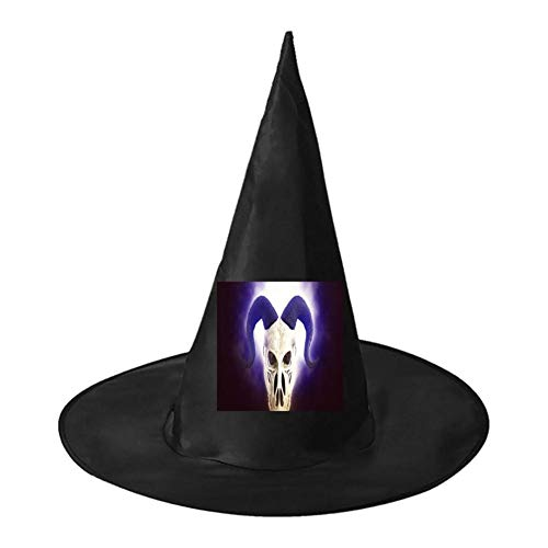 The Light of The Sheep Skull Unisex Halloween Witch Role Playing Wizard Hat for Costume Accessory