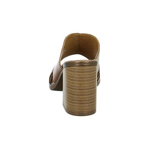 Vagabond 4138-001-27cognac - Zuecos de Piel para mujer Cognac