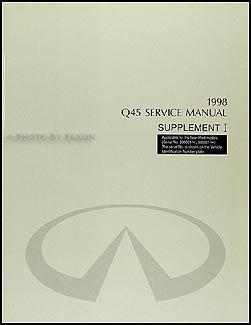 1998 infiniti q45 mid model year repair shop manual supplement rh amazon com 2000 Infiniti Q45 1997 Infiniti Q45