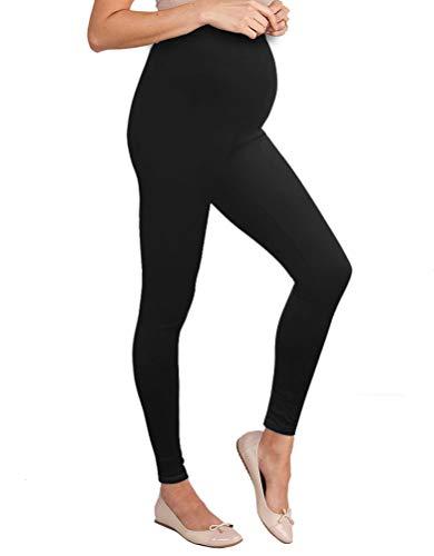 Women's Super Comfy Maternity Leggings LM48224X 8826 Black 2X