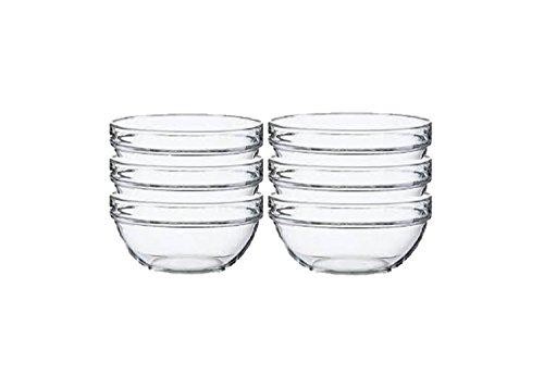 Lauryn Janae Prep Bowl Glass, 3.5'' Inch, Clear (Set of 6) by Lauryn Janae (Image #1)'