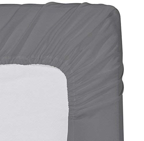 Luxurious Collections Solid 1 PC Fitted Sheet Extra Long Fit Upto 10