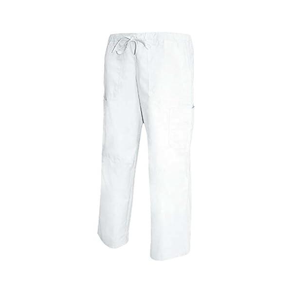 MISEMIYA Pantalón Cintura Baja con Cordón Uniforme Laboral Clinica Hospital Limpieza Veterinaria Sanidad Hostelería utilidades de Trabajo Unisex Adulto 2