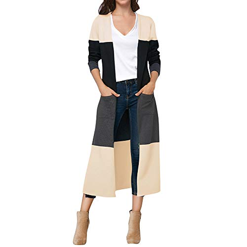 BETTERUU Womens Long Sleeve Striped Cardigan Tops Ladies Autumn Jacket Shirts ()