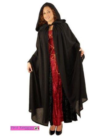 Hooded Peasant Cloak Costume Accessory]()