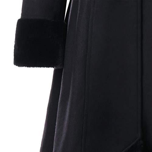 Dames Double Manteau Hiver Laine Long Winter Femmes Overcoat Warm XL Women Noir Thick MEIbax Boutonnage Slim Coat Jacket Veste 2018 Outwear Cachemire Parka H1TUxqwgC