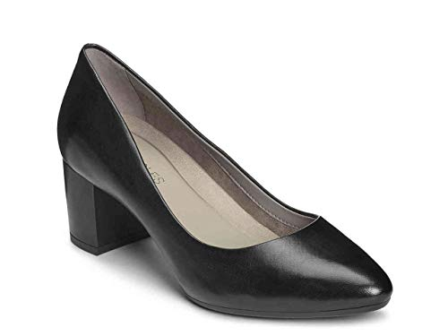 Aerosoles Women's Silver Star Pump, Black Leather, 9 M US