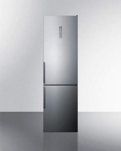Summit FFBF192SS 24 Inch Counter Depth Bottom Freezer Refrigerator in Stainless Look (24 Refrigerator Bottom Freezer)