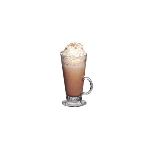 W10 x D8 x H15cm Clear theallroundstore 2 Single Latte Glass