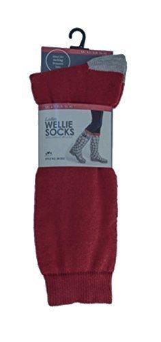Mujer Térmicos Calcetines Para Botas De Agua con contraste Talón Y Dedo Del Pie, EU